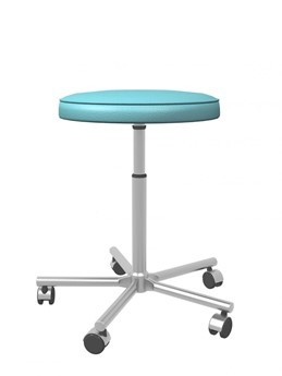 A 3d illustration of an adjustable metal stool