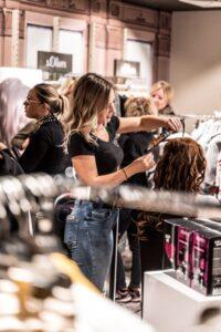 a woman in a salon