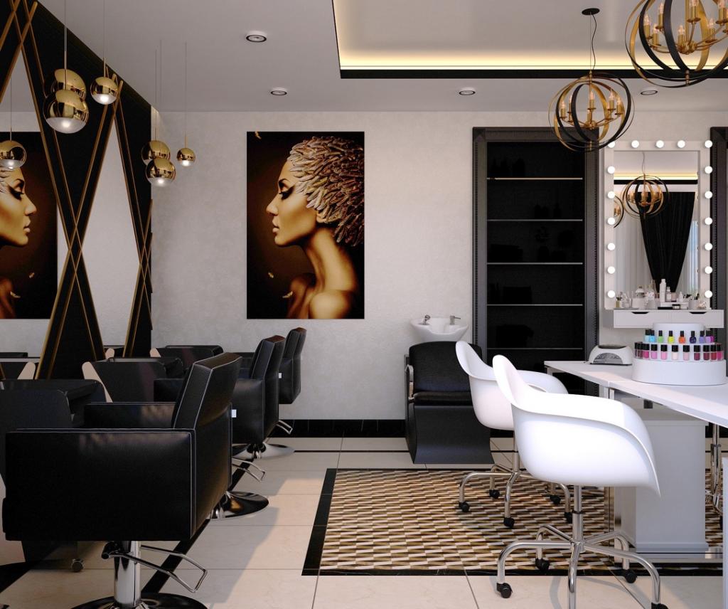 A very stylish and modern beauty salon